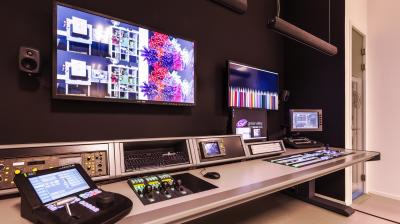 Grass Valley Training Centre custom video console