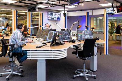 RTV Noord radio studio mean-and-lean ON-AIR console